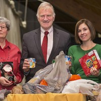 Clarkson University Employees Collect More Than 1,700 Food Items for Those in Need